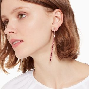 ♠️ Kate Spade NWT Pink Glitzville Linear Earring
